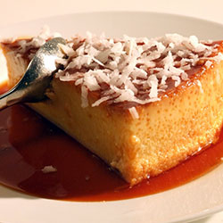Coconut Flavored Flan